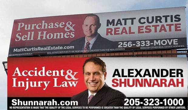 This Alabama real estate agent is parodying Shunnarah billboards
